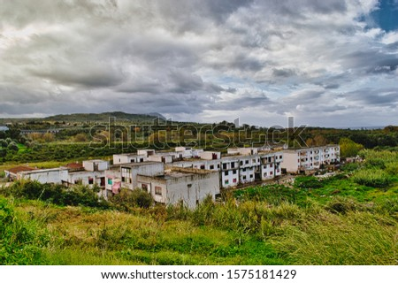 The Ciambra district of Gioia tauro, inhabited by gypsy families, is one of the most degraded places in Italy. Royalty-Free Stock Photo #1575181429