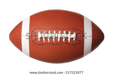 american football ball isolated on white background Royalty-Free Stock Photo #157525877