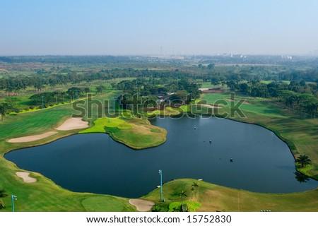 golf field aerial #15752830