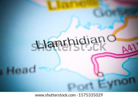 Llanrhidian. United Kingdom on a map #1575335029
