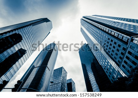 Shanghai Lujiazui business district Royalty-Free Stock Photo #157538249