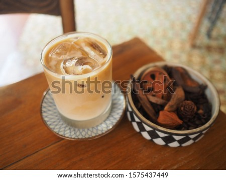 White coffee with Herb cup #1575437449