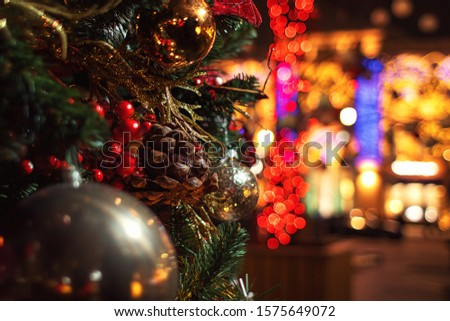 Christmas tree with cones and balls #1575649072
