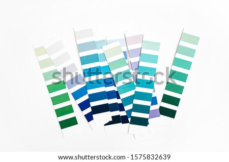 Fashion Color trend. Color swatch. Blue and green sample colors. Forecast of the future popular colors.  #1575832639