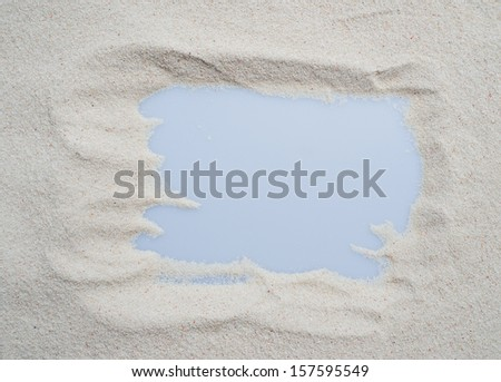sand background with frame pattern.