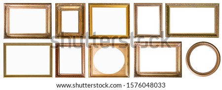Frames paintings gold antique antiquity collection isolated museum #1576048033
