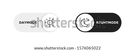 Vector day night switch. Mobile app interface design concept. Dark mode switch icon. Day and night mode gadget application. Light and dark icon. EPS 10 Royalty-Free Stock Photo #1576065022