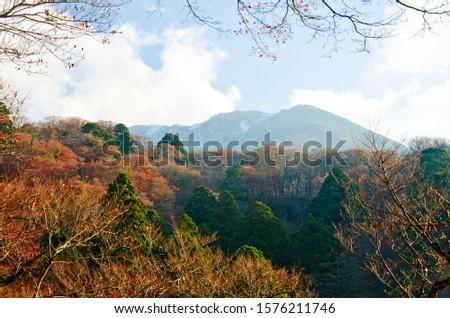 View of Daisen Mountain During Lush Foliage.  #1576211746