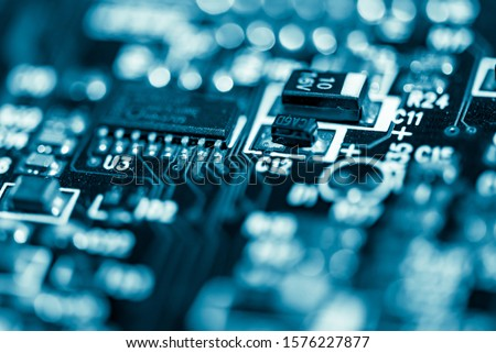 Abstract,close up of Mainboard Electronic computer background. (logic board,cpu motherboard,Main board,system board,mobo)   #1576227877