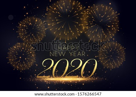 happy new year celebration firework stylish background #1576266547
