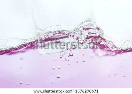 Moving pink water droplets and bubbles #1576298671