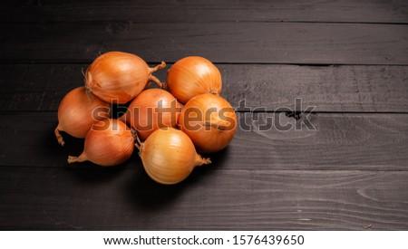 Fresh onions. Onions background. Ripe onions. Onions in market #1576439650