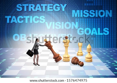 Strategy and tactics concept with businessman #1576474975
