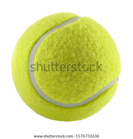 tennis ball isolated without shadow - photography Royalty-Free Stock Photo #1576732636