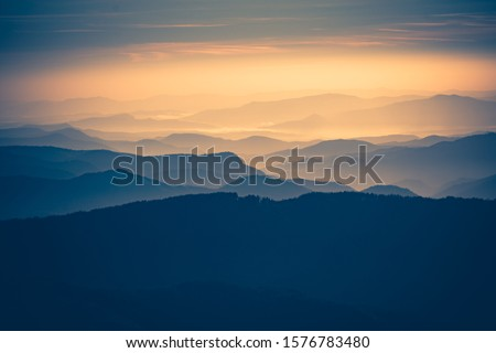 A beautiful sunset over the mountains. #1576783480