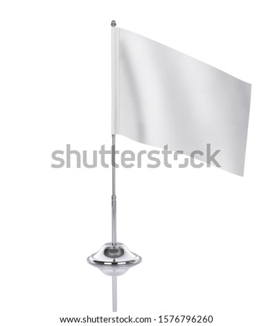Blank table flag on white background, suitable for design, mockup #1576796260