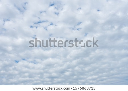 White clouds filled the sky in the cloudy day, Cloudy sky. #1576863715