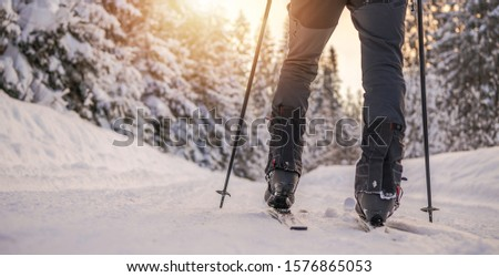 Colorado Cross Country Skiing Winter Sport and the Winter Wonderland.   #1576865053