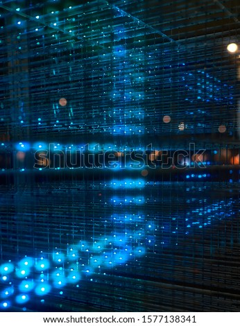 Blue LEDs in a cube