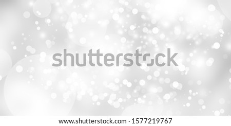 white and gray Christmas light with snowflake bokeh background, Winter backdrop wallpaper. #1577219767