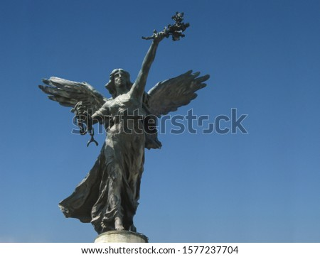 Unchain liberty victory Statue Rome Italy #1577237704