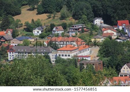Hanau, Frankfurt / Germany - July. 22. 2019: Beautiful houses and streets in Germany #1577456851