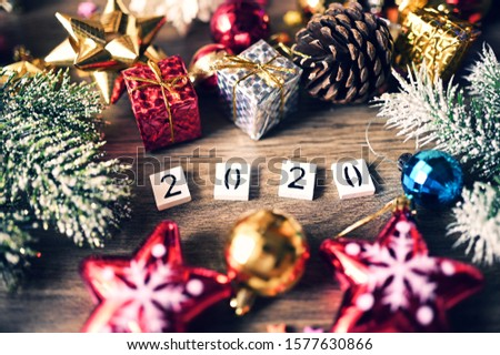 2020 text Numbers with Concept Christmas and New Year 2020 #1577630866