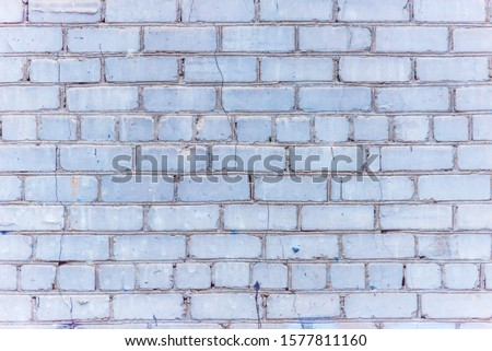Old White Brick Wall for Backgrounds