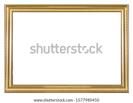 Isolated Photo Frame, Wooden Antique Photo Frame. Royalty-Free Stock Photo #1577980450