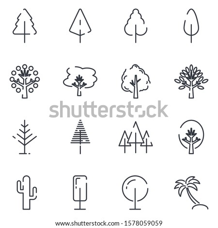 Tree set icon template color editable. Tree pack symbol vector sign isolated on white background icons vector illustration for graphic and web design. #1578059059