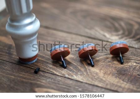 Felt, round, felt, brown for furniture #1578106447