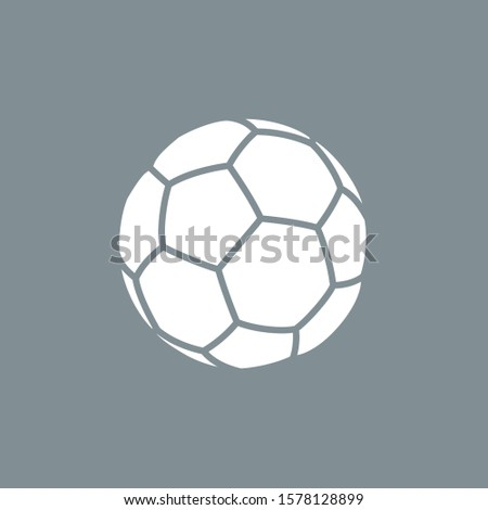 contour shapes icon soccer ball for playing football isolated on gray background. Modern design minimalistic style black and white outline shapes sign classic leather soccer ball.