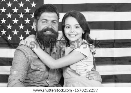 Patriotismt begins at home. Patriotic family showing patriotism on american flag decor. American patriotism. Patriotism and love for the homeland. Independence day. #1578252259