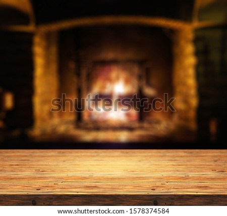 Christmas table with space for advertising product or text