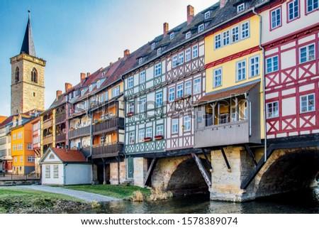 View View of the Krämerbrücke Erfurt #1578389074