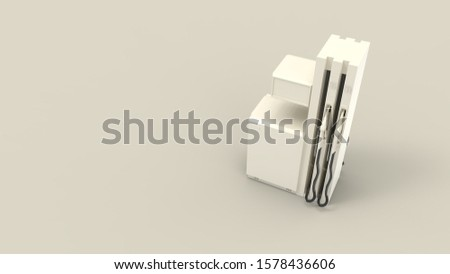3d rendering of a gas station pump isolated in a studio background #1578436606