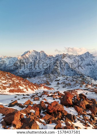 Sunset. Elbrus. Sunset on Elbrus. Sunset in the Mountains. Caucasus #1578437581