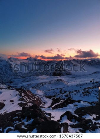 Sunset. Elbrus. Sunset on Elbrus. Sunset in the Mountains. Caucasus #1578437587