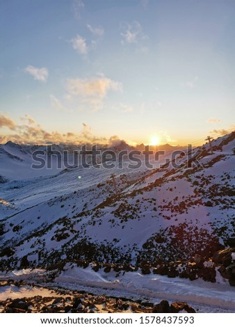 Sunset. Elbrus. Sunset on Elbrus. Sunset in the Mountains. Caucasus #1578437593