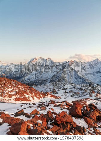 Sunset. Elbrus. Sunset on Elbrus. Sunset in the Mountains. Caucasus #1578437596