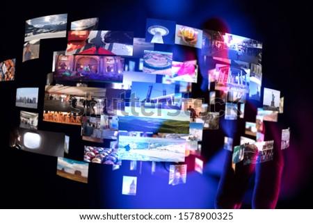 Internet broadband and multimedia streaming entertainment  #1578900325