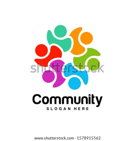Community logo design inspiration vector template, Social relationship logo and icon, Adoption care logo concept, Icon symbol #1578915562