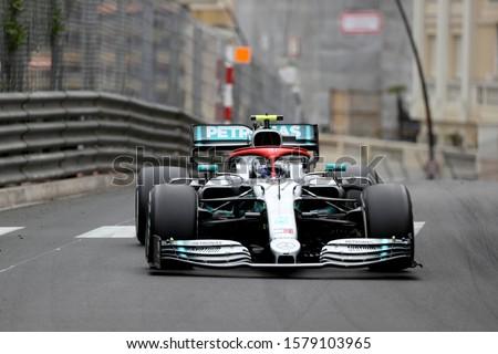 Monte Carlo, Monaco - 26th May , 2019. Valtteri Bottas of Mercedes AMG Petronas Motorsport on track during  the F1 Grand Prix of Monaco #1579103965