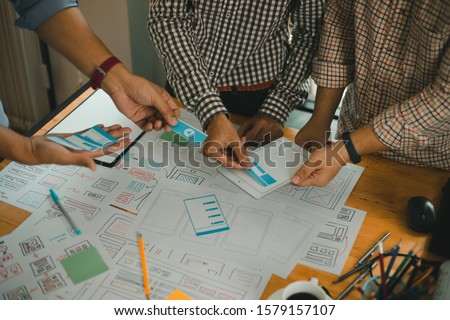 Ux designer designing designers web brand phone smartphone layout geek business prototype internet goals sketch plan write idea success solution meeting concept #1579157107
