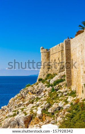 Wall around the Old City of Dubrovnik (Croatia) #157928342
