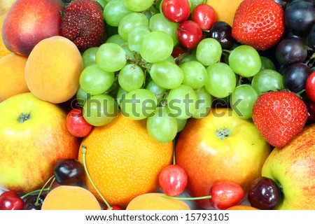 Background of fresh summer fruit. #15793105