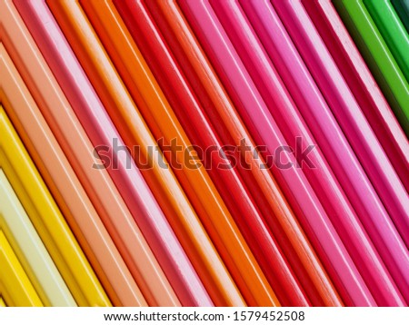 Colored pencils of various colors, Color background and texture #1579452508