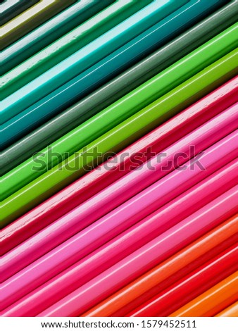Colored pencils of various colors, Color background and texture #1579452511