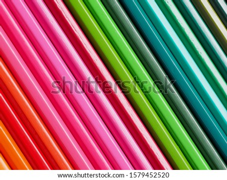 Colored pencils of various colors, Color background and texture #1579452520