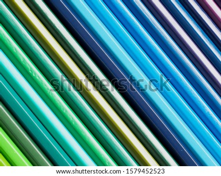 Colored pencils of various colors, Color background and texture #1579452523